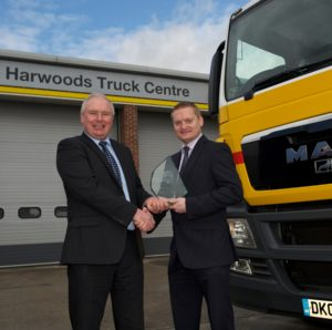 Harwood Truck Centre win Sucking Transport award
