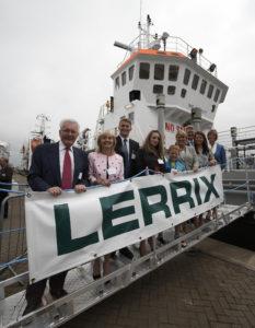 Rix family celebrate new ship in Hull