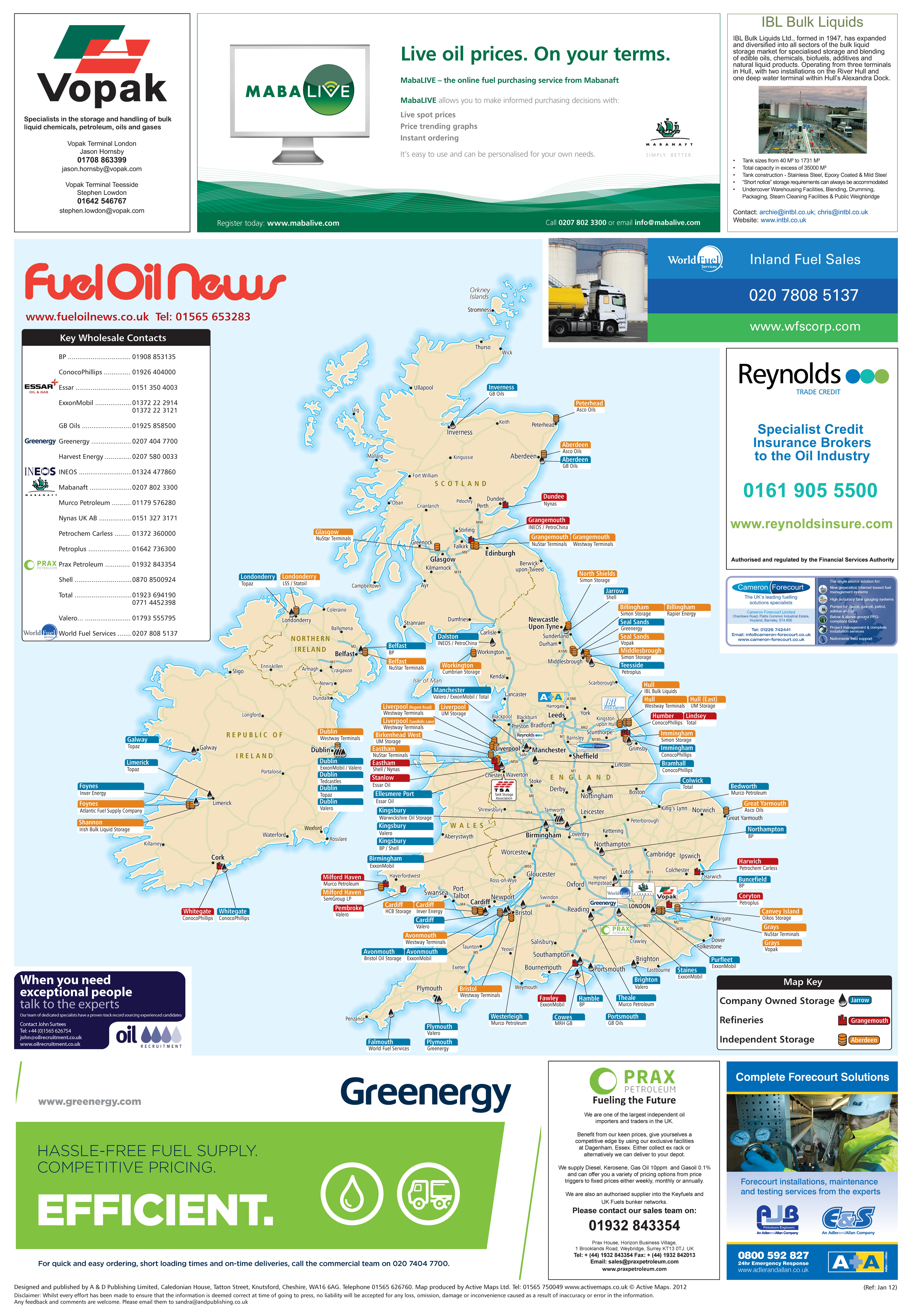 Fuel Oil News wall map 2012