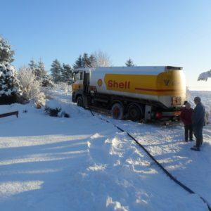 Snow oil tanker