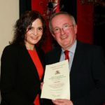 Jill Turner receives the award from councillor John Loughnan