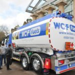 Visitors to FPS EXPO 2013 admire WCF Fuels' latest tanker.  Built by RTN Lakeland, it features WCF Fuels' new logo