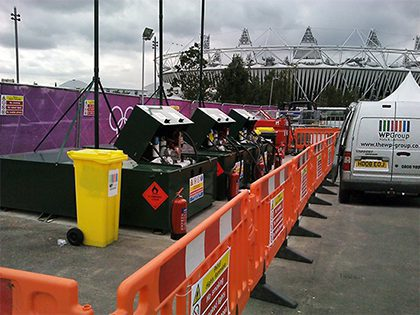 On site at the Olympic stadium – the WP Group provided fuel for over 40 venues