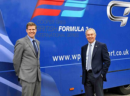 In front of the WP Racing Fuels and Lubricants truck - Darren Borras (l) and WP Group managing director, David Fairchild