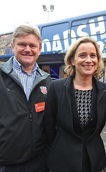 Pete George, managing director, UK and Ireland marketing with Lindsay Grant, former manager, national sales, who will shortly be talking up a new role at Phillips 66's Houston headquarters