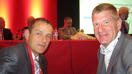 On the front row – Paul Denmead, terminal manager, Falmouth Petroleum and Andy Dickinson, operations manager, Henty Oil