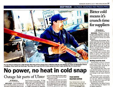 The deep freeze is making headlines in the US, Marlboro-based Porco Energy is doing its best to keep up with increased demand
