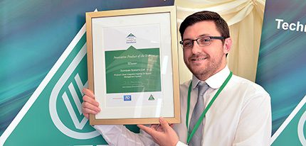 Dunraven's product development manager, Michael McCaughley celebrates success at OFTEC's Awards for Excellence