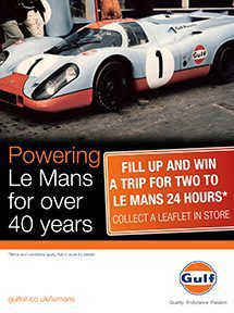 A lucky Gulf customer will win a trip to Le 24 Heures du Mans