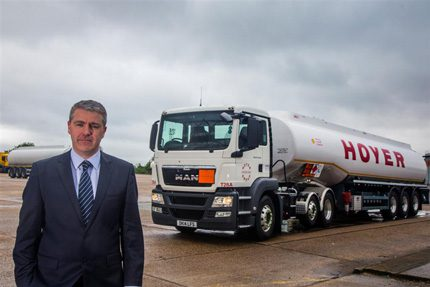 Allan Davison operations director says Hoyer is pleased to award Goodyear this business – a company that has 'built a reputation for improving the efficiency of fleets