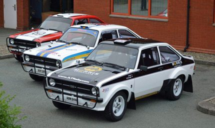 Fuelled by Morris Lubricants, the three Group 4 RS 1800 Mark 2 Ford Escorts that will be competing in the East African Classic Safari Rally