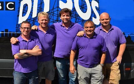 The BBC DIY SOS team on the project - the final product can be seen on October 14th and 21st on BBC1 from 8pm