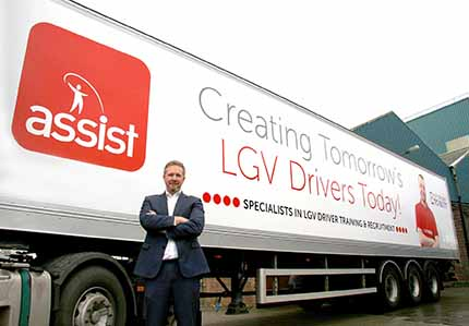 Dave Dargan, CEO of the Assist Resourcing Group, said the new Widnes test centre would help train the drivers that Britain's transport industry needs