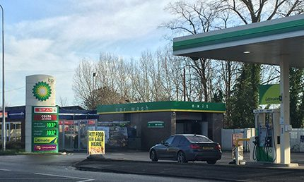 A BP branded MRH service station in Cheshire