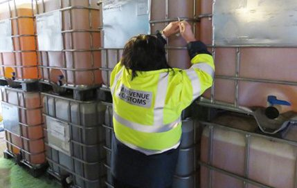 Storage tanks, equipment, 55,000 litres of fuel, a quantity of cash, computers, business records, a lorry and a trailer were seized during the operation