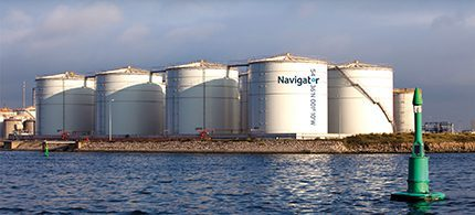 Formed by Macquarie Capital and Greenergy earlier this year, Navigator Terminals offers customers unique storage solutions for crude, petroleum, chemicals, liquefied gas, bitumen and biofuel products at strategic locations at major UK ports including Seal Sands on Teesside pictured here