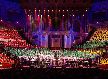 A previous Armonico Consort event at the Royal Albert Hall – one of the charity's main aims is to nurture a love of singing and performance in young people who might otherwise not be exposed to performing arts