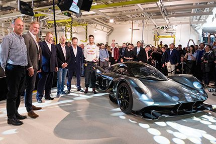 Total volume for the AM-RB 001 will be between 99 and 150 road cars inclusive of all remaining prototypes and 25 track-only versions, with first deliveries commencing in 2018   (Credit:  Aston Martin)