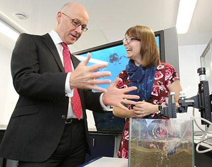 Deputy first minister opens the Lyell Centre at Heriot-Watt University