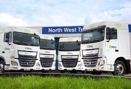 The Abbey Logistics fleet has been expanded by the addition of 20 DAF XF and CF tractor units