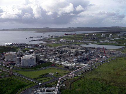 BP's Sullom Voe terminal in Shetland