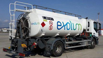 Exolum branded tanker