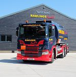 A gleaming Rawlings tanker outside the new fuel depot in Hook Hampshire